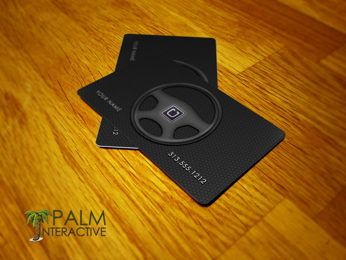 Uber Driver Premium Business Cards - Detroit Print Design